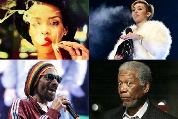 celebrities marijuana